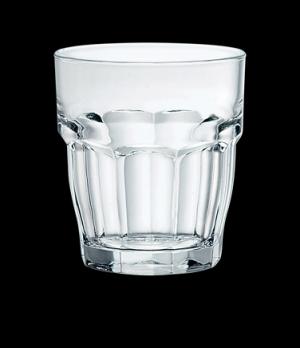 "Bar Rock Glass, 9 oz., 3-1/4"" x 3-1/2"", tempered, stackable, Bormioli, Rockbar ("