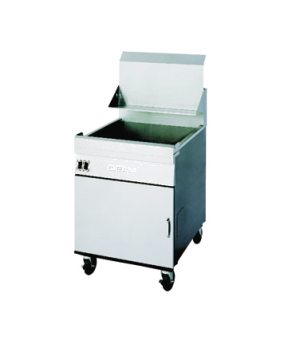 Fryer, Gas, heavy-duty floor model, 65-90 pound fat capacity, Thermatron solid-s
