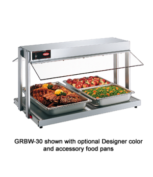 Glo-Ray® Buffet Warmer, countertop unit with heated base, buffet style sneeze gu