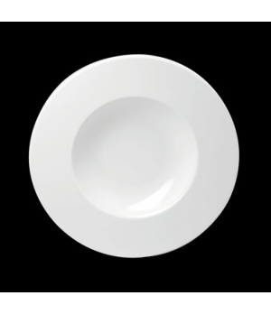 "Soup, 9 oz., 9"" dia., round, wide rim, porcelain, Tria, Simple Plus (minimum = c"