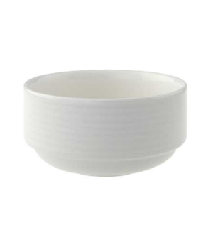 Cup, 9 oz. stackable, unhandled, premium porcelain, Perimeter