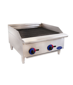 "Chefmate™ 24"" Gas Charbroiler, 10 gauge Stainless Steel Radiant, lift off cookto"
