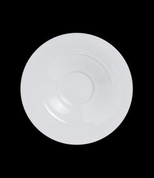 """Cappuccino Saucer, 6-1/2"""" dia., porcelain, Crucial Detail, Parentheses (USA stoc"""
