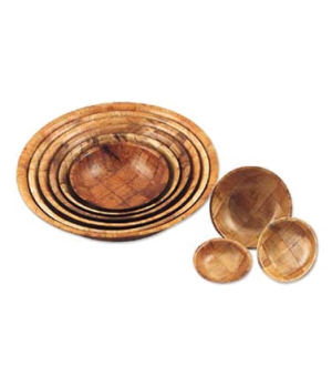 """Bowl, 6"""" x 1-1/2"""", break-resistant, hand woven with a walnut weave"""