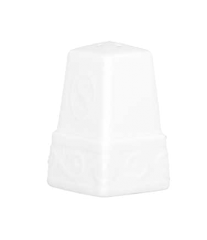 "Salt Shaker, 2-1/8"", premium porcelain, Millenia Bianca (DE Stock)"