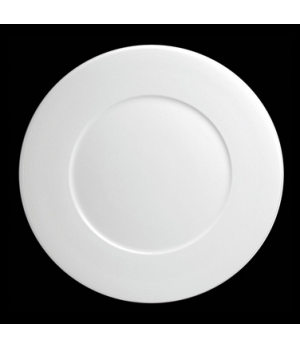 "Plate, 9"" dia. (6-3/8"" well), round, flat, porcelain, Tria, Wish (minimum = case"