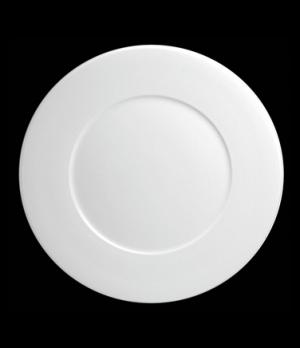 "Plate, 9"" dia. (6-3/8"" well), round, flat, porcelain, Tria, Wish (minimum = case"