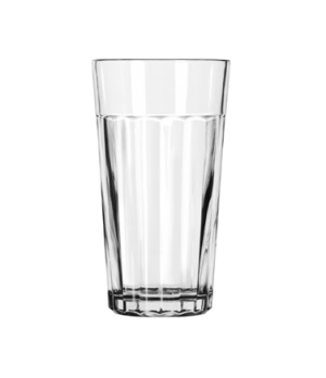 "Tumbler, 16 oz., glass, paneled, DuraTuff®, (H 6-1/8""; T 3-5/8""; B 2-1/2""; D 3-5"