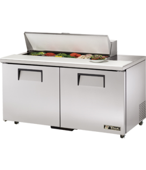 """Sandwich/Salad Unit, (12) 1/6 size (4""""D) poly pans, stainless steel insulated co"""