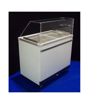 Ice Cream Cabinet, (4) tub or (2) basket capacity, 6.6 cu. ft., sliding glass li