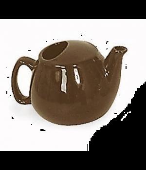 Teapot, 16 oz., ceramic, brown