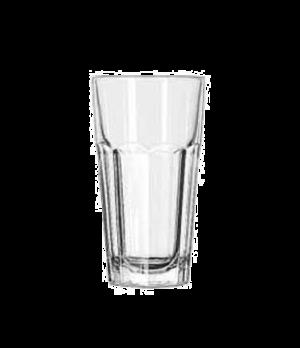 """Cooler Glass, 12 oz., DuraTuff®, GIBRALTAR®, (H 5-7/8""""; T 3-1/8""""; B 2-1/4""""; D 3-"""
