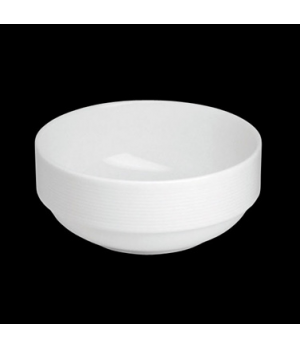 "Bowl, 12 oz., 4-3/4"" dia. x 2""H, round, stackable, porcelain, Tria, Wish (minimu"