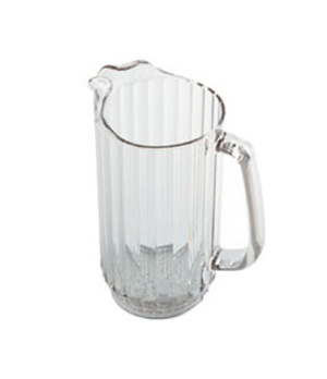 "Camwear® Pitcher, 32 oz., 6-3/4""H x 5-3/4""D, polycarbonate, clear, chip & break"