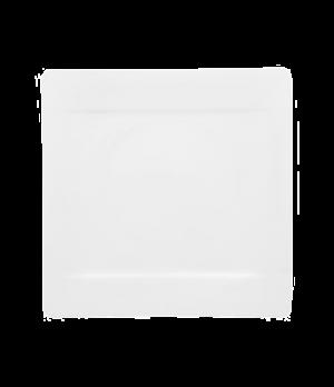 "Plate, 12-1/2"", square, narrow rim, premium bone porcelain, Modern Grace"