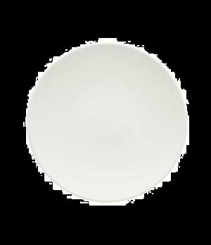 """Plate, 6-1/4"""", coupe, flat, premium porcelain, Dune"""