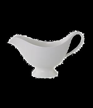 "Sauceboat, 8-1/4"" x 3-7/8"", 13 oz., premium porcelain, Universal"