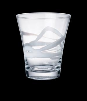 """Lui Glass, 13 oz., 3-1/4"""" x 4-1/2"""", hand-made, white, Bormioli, Ceralacca (USA s"""