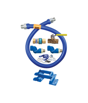 "Blue Hose™ Moveable Gas Connector Kit, 1"" inside dia., 48"" long, covered with st"