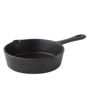 "Pan, 13-3/10 oz. (393ml), 5-1/2"" dia. (14cm), round, Oven to Table, cast iron"