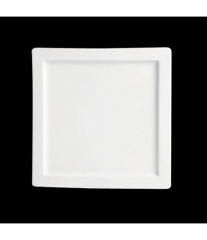 "Plate, 6-1/4"", square, rimmed, porcelain, Tria, Simple Plus (minimum = case quan"