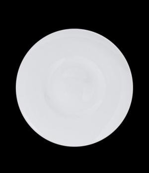 "Plateau Plate, 6-5/8"" dia (1-9/16"" rim), round, porcelain, Crucial Detail (minim"