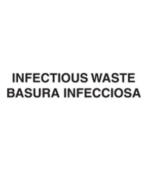 "Medical Waste Decal, ""Infectious Waste"", English/Spanish Label"