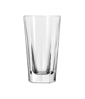"Beverage Glass, 12 oz., DuraTuff®, INVERNESS, (H 5-5/8""; T 3-1/8""; B 2-3/4""; D 3"