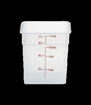 CamSquare® Food Container, 8 quart, 8-3/8 x 8-3/8 x 9-1/8, translucent, orange g