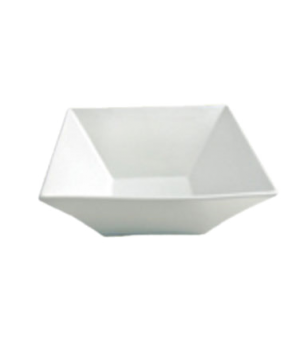 "Trumpet Bowl, 56 oz. (1.7 liter), 8"" (20 cm), square, Le Buffet, white"