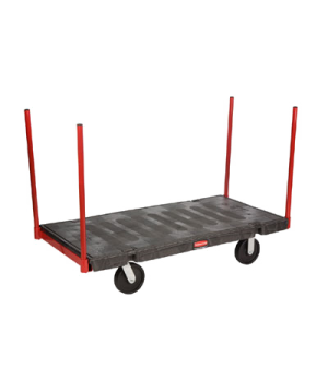 "Platform Truck, Stanchion, 30"" x 60"", 2500 lb capacity, heavy duty steel removab"