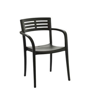 Vogue Stacking Armchair, designed for outdoor use, contoured, air molding techno