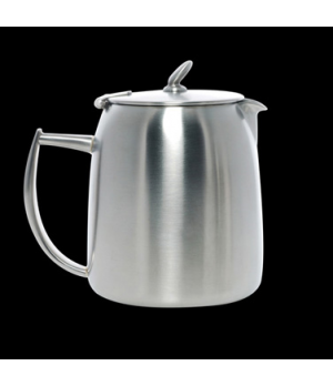 Coffee Pot, 12 oz., with lid, short spout, stainless steel, La Tavola, Café and