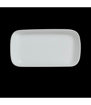 "Tray, 10-1/2 oz., 7-3/4"" x 4-1/8"" x 1"", rectangular, Varick Cafe Porcelain (USA"