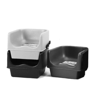 Booster Seat, single height, polyethylene, dark brown