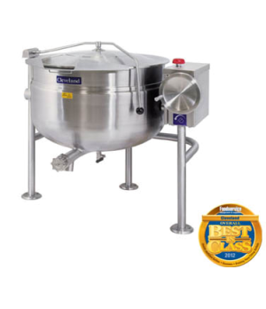 Short Series™ Steam Jacketed Kettle, Direct Steam, Tilting, 60-gallon capacity,