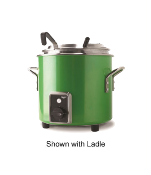 Cayenne® Retro Stock Pot Kettle Rethermalizer, 7-1/4 quart, (6.9L) Green Apple F