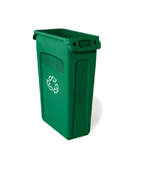 "Slim Jim® Station Recycling Container, with ""We Recycle"" symbol, 23 gallon, 22""W"