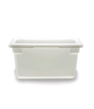 "Food Storage Container, 12"" x 18"" x 9"", 4.75 gallon capacity, natural white, pol"