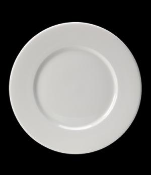 "Plate, 11-3/8"" dia. (7"" well), round, wide rim, Distinction, Monaco (USA stock i"
