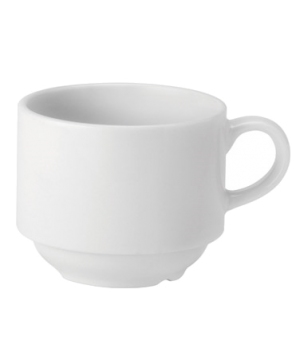 Cup, 7 oz. (207ml), stacking, microwave & dishwasher safe, Pure White