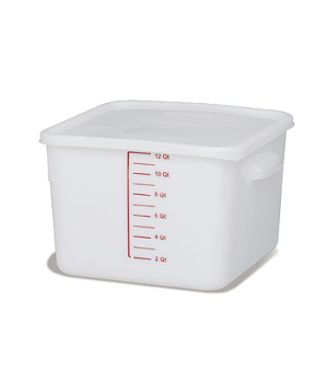 Space Saving Storage Container, 12 qt., square, commercial dishwasher safe with