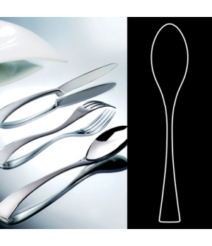 "Dessert Spoon, 7-1/2"", stainless steel, La Tavola, New Wave (USA stock item) (mi"