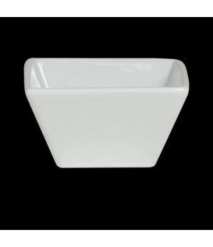 "Bowl, 6 oz., 3-5/8"" x 2"", square, Varick Cafe Porcelain (USA stock item) (minimu"