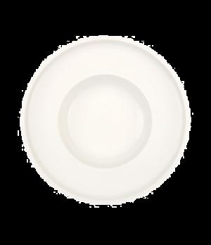 "Pasta Plate, 11-3/4"" dia., round, wide rim, white, premium porcelain, Artesano"