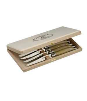 "Knife Presentation Box, 10-1/2"" x 5-3/4"" x 1-3/8, beechwood, Laguiole (USA stock"