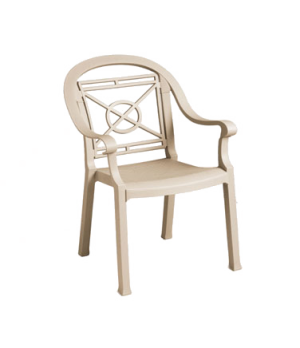 Victoria Classic Stacking Armchair, designed for outdoor use, contoured back, Ke