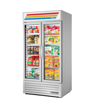 Freezer Merchandiser, two-section, -10° F, (8) shelves, laminated vinyl exterior