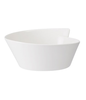 Salad Bowl, 157-1/2 oz., round, dishwasher & microwave safe, white, premium porc
