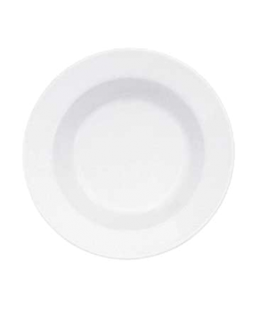 "Rim Soup Plate, 9"", 13 oz., deep, premium porcelain, Easy White"